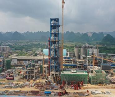 鱼峰集团5500t/d水泥熟料项目建设全面提速